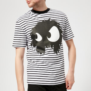 McQ Alexander McQueen Men's Dropped Shoulder Mad Chester T-Shirt - Black/White Stripes