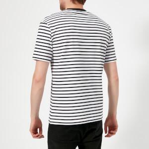 McQ Alexander McQueen Men's Dropped Shoulder Mad Chester T-Shirt - Black/White Stripes: Image 2