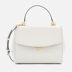 MICHAEL MICHAEL KORS Women's Ava Scallop Grommit Medium Top Handle Satchel - Optic White
