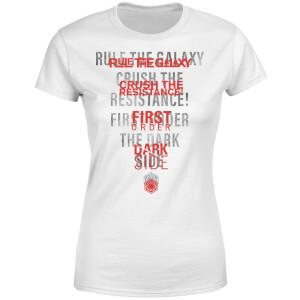 T-Shirt Femme Écho Côté Obscur - Star Wars - Blanc