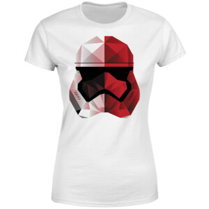 T-Shirt Femme Casque Stormtrooper Effet Cubiste - Star Wars - Blanc