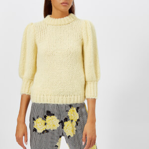 Ganni Women's The Julliard Mohair Jumper - Anise Flower