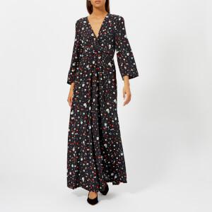 Ganni Women's Nolanna Silk Dress - Black