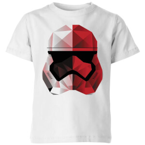 Star Wars Cubist Trooper Helmet Weiß Kinder T-Shirt - Weiß