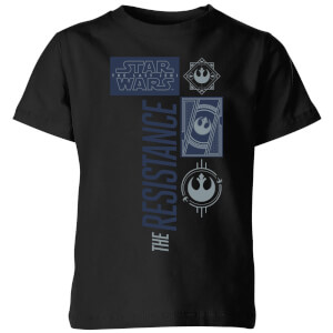 Star Wars The Resistance Schwarz Kinder T-Shirt - Schwarz