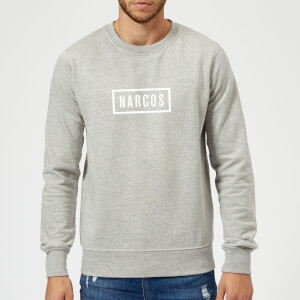 Narcos Box Logo Grey Sweatshirt - Grey