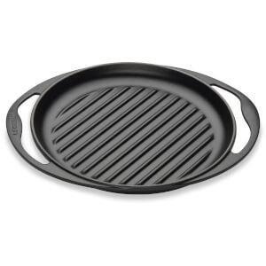 Le Creuset Cast Iron Round Skinny Grill - 25cm - Satin Black