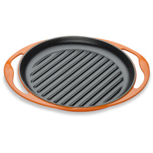 Le Creuset Cast Iron Round Skinny Grill - 25cm - Volcanic