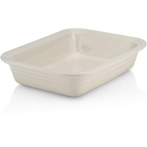 Le Creuset Stoneware Deep Rectangular Dish - 29cm - Almond