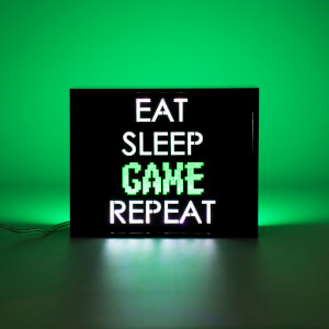 Eat Sleep Game Repeat LED Lampe