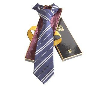 Harry Potter 100% Silk Ravenclaw Necktie in Madam Malkin's Box