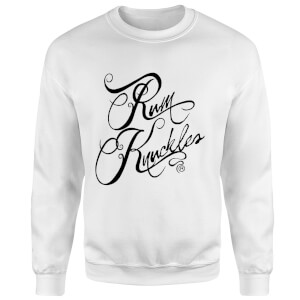 Rum Knuckles Typography Sweatshirt - White