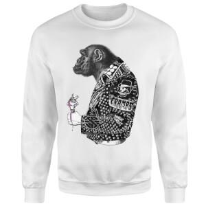 Rum Knuckles Punky Monkey Sweatshirt - White