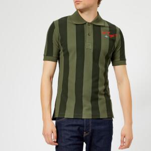 Vivienne Westwood Men's Goumier Stripe Polo Shirt - Dark Green Stripes