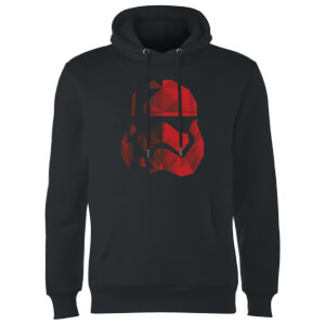 Star Wars Jedi Cubist Trooper Helmet Black Hoodie - Black