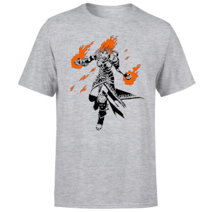 Magic The Gathering Chandra Character Art T-Shirt - Grey