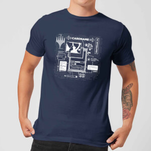 T-Shirt Homme Card Grid - Magic : The Gathering - Bleu Marine