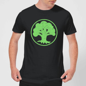 T-Shirt Homme Mana Vert - Magic : The Gathering - Noir