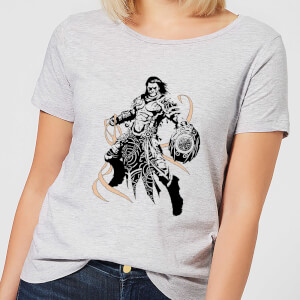 Magic The Gathering Gideon Character Art Women's T-Shirt - Grey
