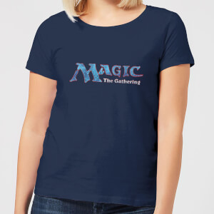 T-Shirt Femme Logo Vintage 93 - Magic : The Gathering - Bleu Marine