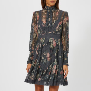 Zimmermann Women's Unbridled Tucked Dress - Ash Garden Floral: Image 1