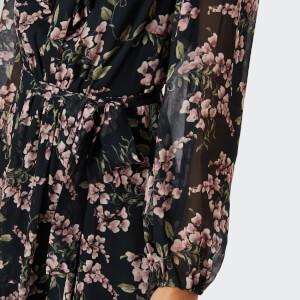Zimmermann Women's Fleeting Flounce Mini Dress - Black Wisteria Floral: Image 4
