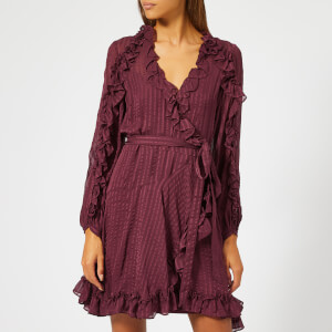 Zimmermann Women's Cascade Wrap Dress - Garnet