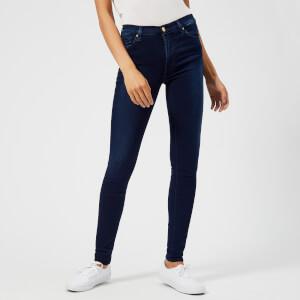 7 For All Mankind Women's High Waist Skinny Jeans - Indigo