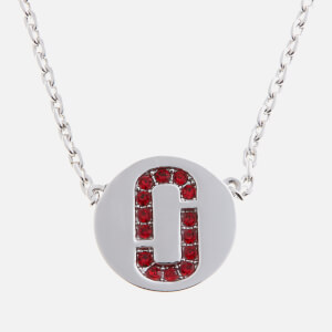 Marc Jacobs Women's Double J Pave Pendant - Red/Silver