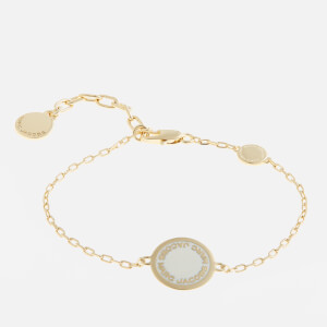 Marc Jacobs Women's Logo Disc Bracelet - Cream