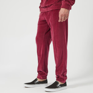 Champion Men's Velour Track Pants - Burgundy