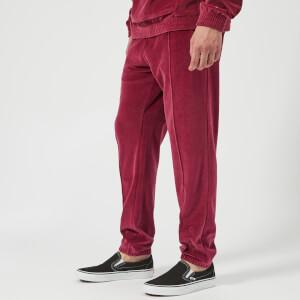 Champion Men's Velour Track Pants - Burgundy
