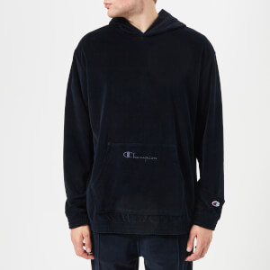 Champion Men's Velour Oversized Hoody - Navy