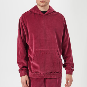 Champion Men's Velour Oversized Hoody - Burgundy