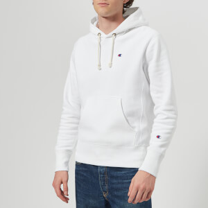 Champion Men's Hooded Sweatshirt - White