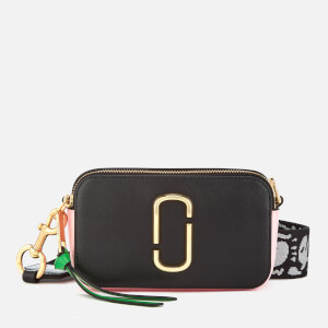 Marc Jacobs Women's Snapshot Cross Body Bag - Black/Baby Pink