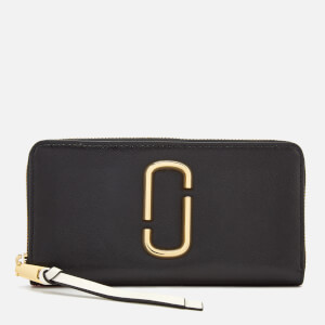 Marc Jacobs Women's Snapshot Continental Wallet - Black/Baby Pink