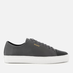 Axel Arigato Men's Cap Toe Leather Trainers - Dark Grey
