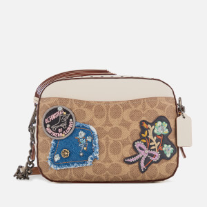 e8e9da01b00 Coach Women s Patches and Border Rivets Camera Bag - Chalk