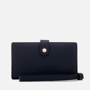 Coach Women's Polished Pebble Phone Wristlet - Navy: Image 1
