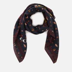 Coach Women's Coach Rexy Patchwork Oversized Square Scarf - Black Multi