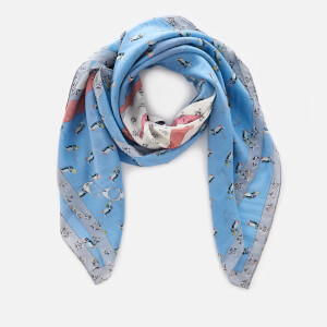 Coach Women's Coach Sharky Patchwork Oversized Square Scarf - Blue Multi