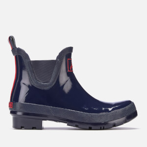 Joules Women's Wellibob Gloss Chelsea Boot Wellies - French Navy