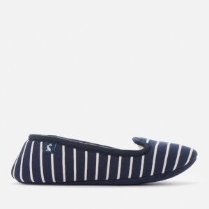 Joules Women's Dreama Fleece Lined Printed Slippers - French Navy Stripe