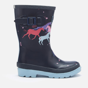 Joules Kids' Printed Wellies - Navy Magical Unicorn