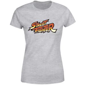 Street Fighter Logo Women's T-Shirt - Grey