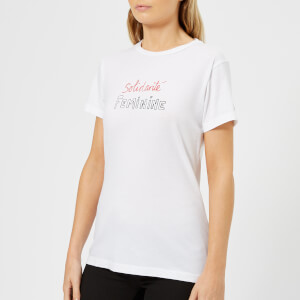 Bella Freud Women's Solidarite Feminine T-Shirt - White