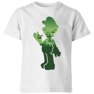 Nintendo Super Mario Luigi Silhouette Kid's T-Shirt - White