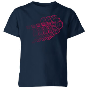 Nintendo Super Metroid Retro Samus Kinder T-Shirt - Navy Blau
