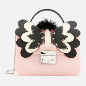 Furla Women's Candy Melita Meringa Mini Cross Body Bag - Light Pink/Black